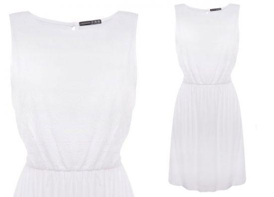 Primark vestido blanco de corte clásico