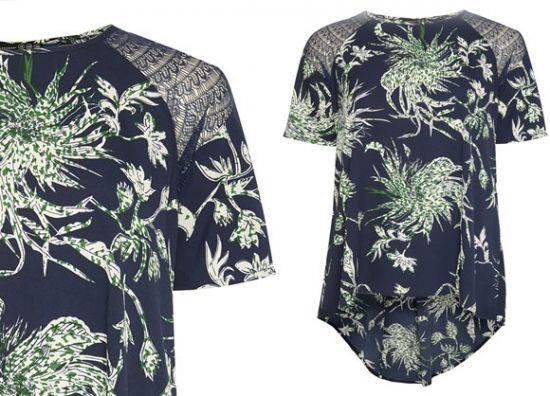 Diseño floreado de camiseta