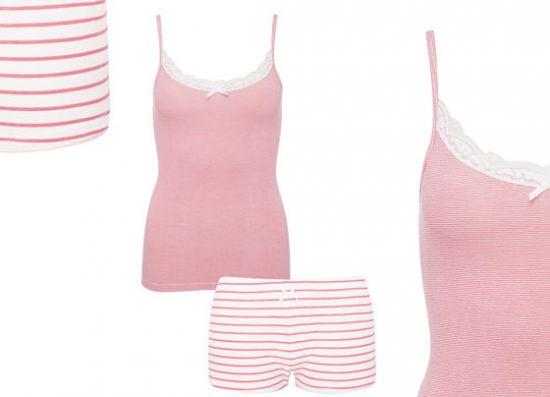 Conjunto de dormir rosado