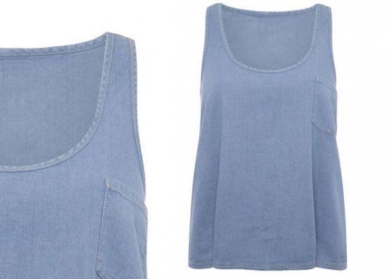 Camiseta Primark vaquera sin mangas