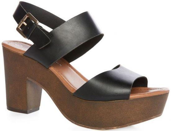 Sandalias negras de Primark