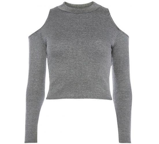Blusa en color gris primark