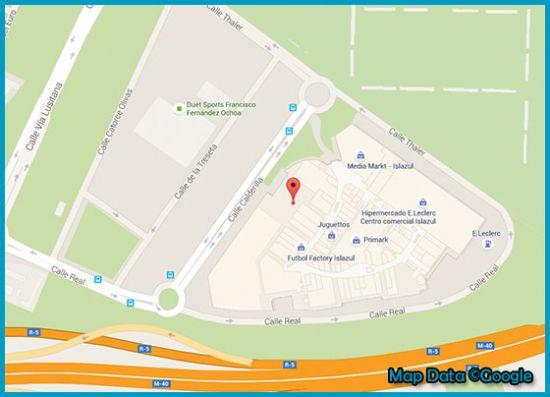Mapa tienda Primark Islazul Madrid