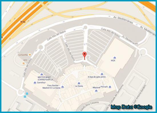 Mapa tienda Primark Madrid, La Gavia