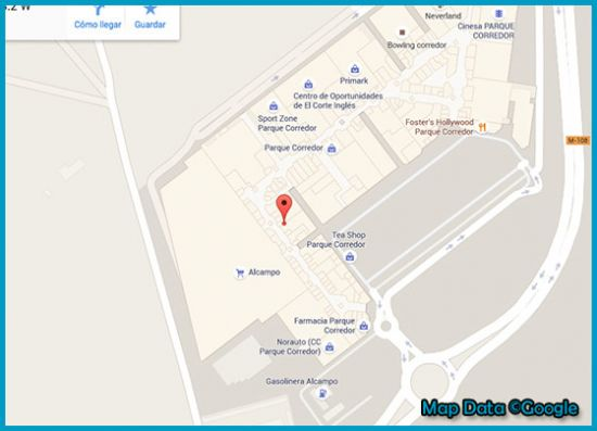 Mapa tienda Primark Madrid, Parque Corredor