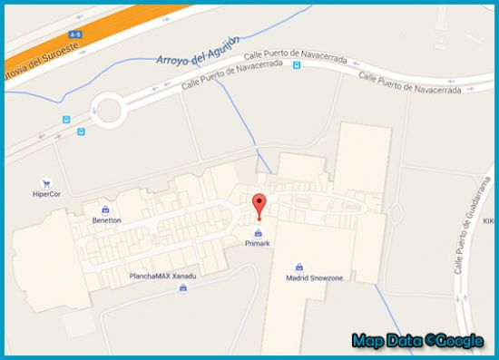 Mapa tienda Primark Xanadu