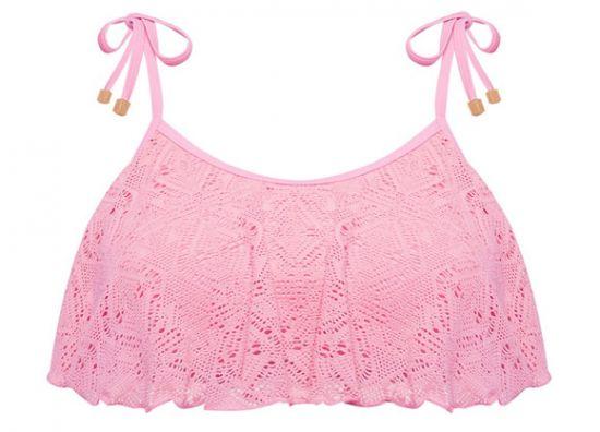Top Primark crochet rosado