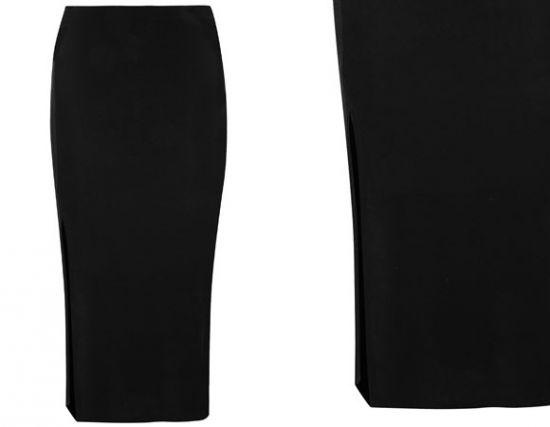 Falda lapiz negra de tiendas Primark