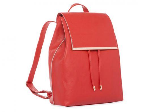 Primark mochila roja de diseño formal