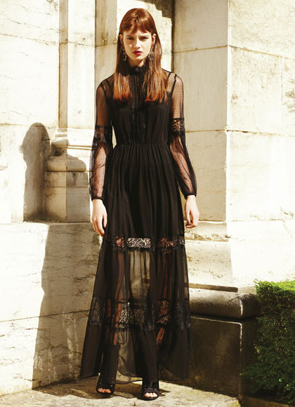Hermoso vestido de mujer transparencia negro