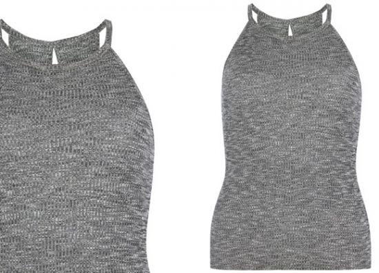 Blusa de mujer gris Primark