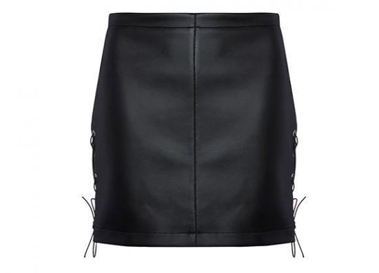 Una minifalda color negro