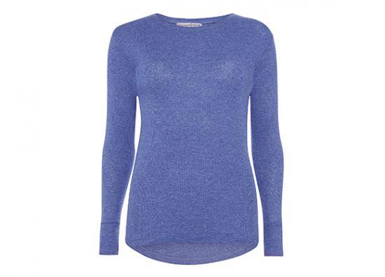 suéter color morado