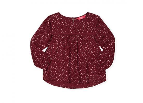 Blusa roja para niña