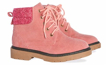 Botas en color rosado