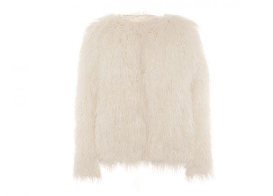 Abrigo corto estilo mongol. Precio: €35.
