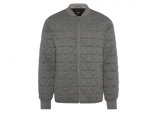 chaqueta gris para hombre