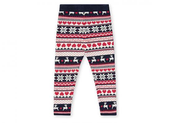 Pantalón con estampado navideño para niña