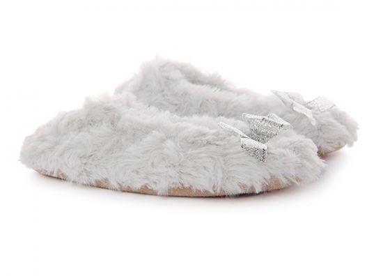 Pantuflas grises para niñas