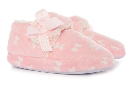 Pantuflas color rosa para niña