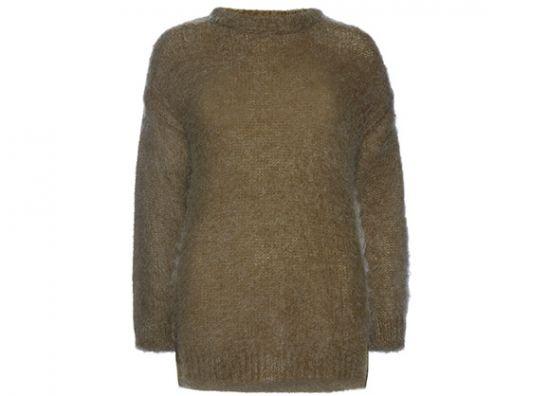 Suéter esponjoso en color verde oliva