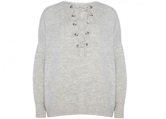 suéter blanco o gris