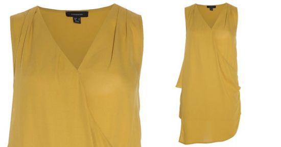 Blusa color mostaza