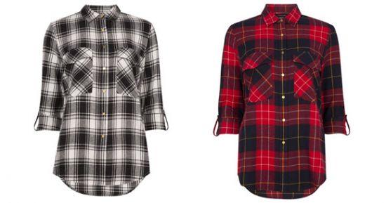 Camisas a cuadros de mujer