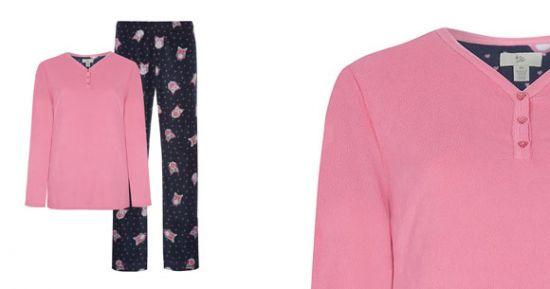 Pijama Primark en rosa y azul