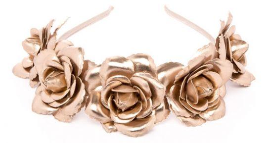 Diadema de rosas doradas Primark para fiestas