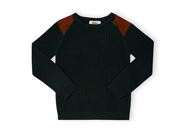 suéter negro para niño