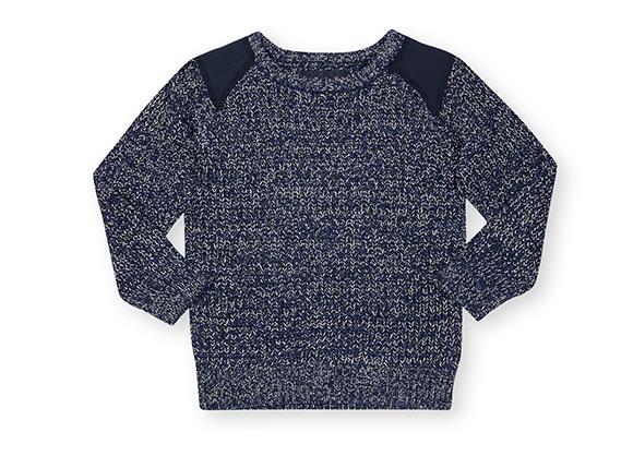 suéter azul para niño