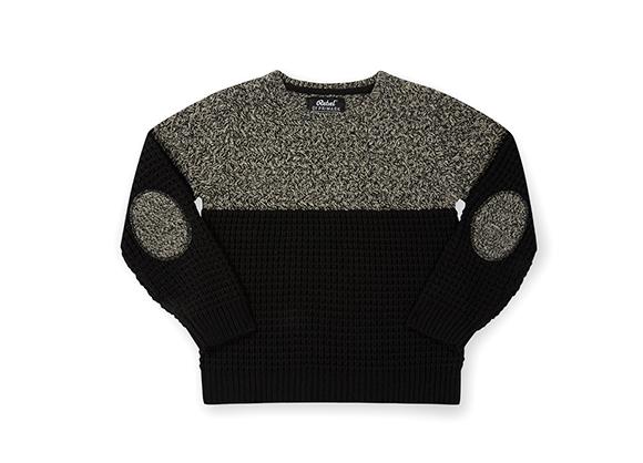 suéter bicolor infantil