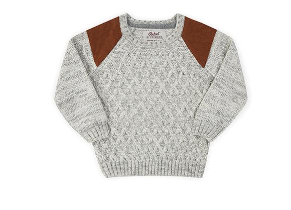 suéter blanco para niño