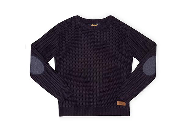 suéter con coderas