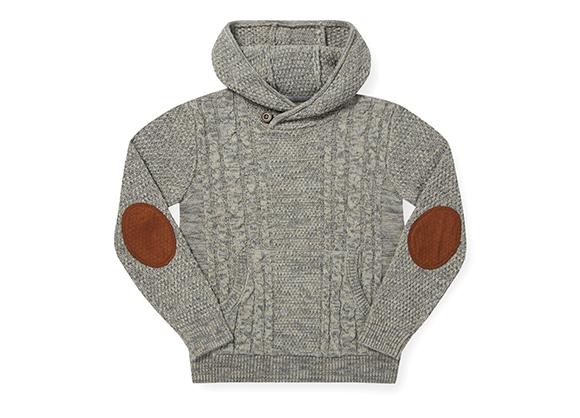 suéter con gorro para niño