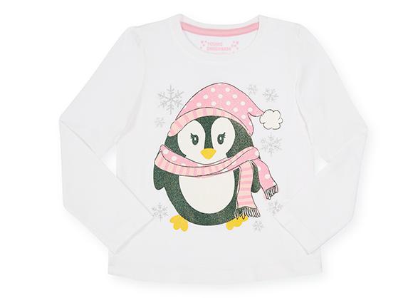 suéter con estampado de pingüino