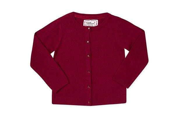 suéter de botones para niña