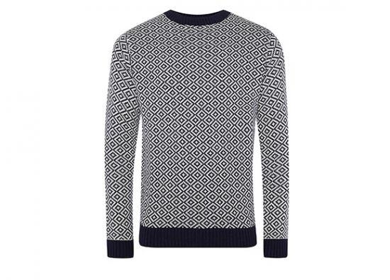 suéter de rombos
