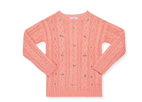 suéter tejido de niña