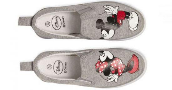Zapatillas grises de Minnie y Mickey