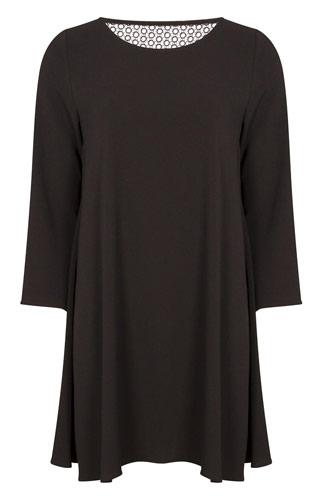 Primark vestido crepé negro