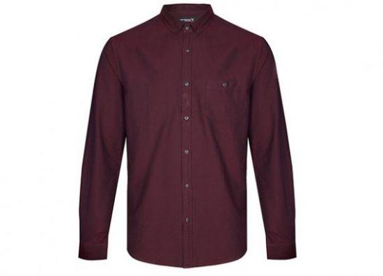 Camisa Oxford burdeos