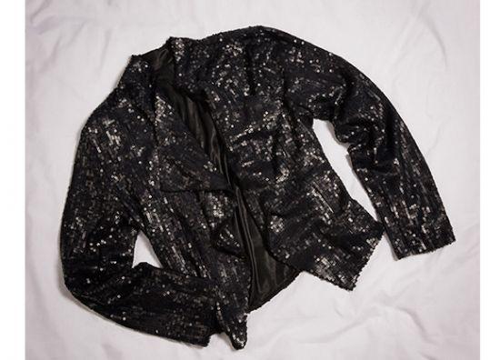 chaqueta negra de lentejuela