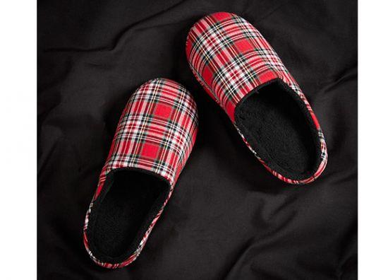 Pantuflas rojas