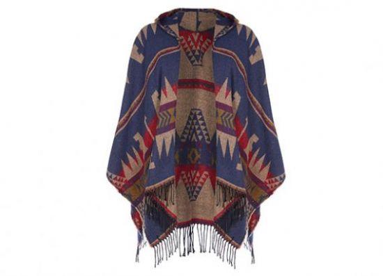 Capa azteca con capucha