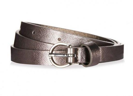 Cinturón fino metalizado