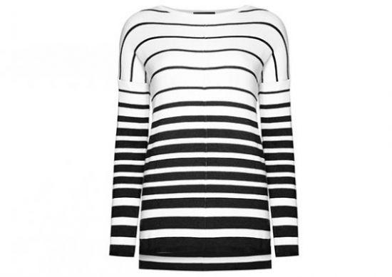 Camiseta a rayas blancas y negras