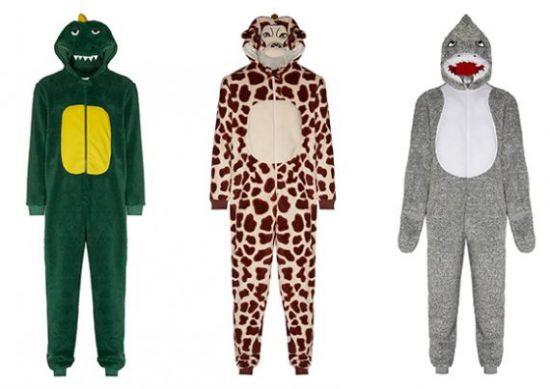 Mono de animales entre los pijama mono Primark