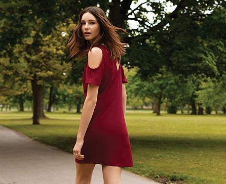 Vestido corto rojo Primark